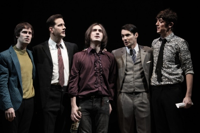 Adam Sopp, Dominic Tighe, George Maguire, Tam Williams and John Dagleish in Sunny Afternoon. Photograph by Kevin Cummins.