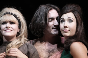 Carly Anderson, George Maguire and Emily Goodenough in Sunny Afternoon.  Photograph by Kevin Cummins.