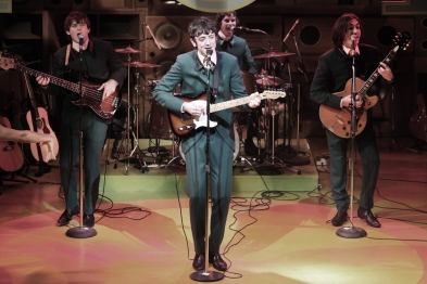 Ned Derrington, John Dagleish, Adam Sopp and George Maguire in Sunny Afternoon. Photograph by Kevin Cummins.