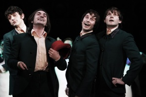 John Dagleish, George Maguire, Adam Sopp and Ned Derrington in Sunny Afternoon.  Photograph by Kevin Cummins