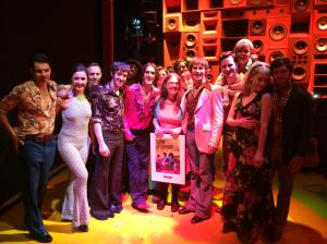 With a hot & sweaty cast after my 100th show