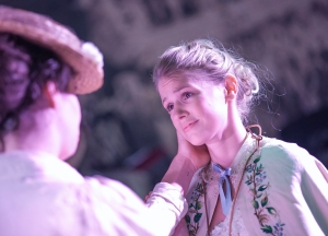 EJ Martin (Helena), Samantha Louise Clark (Hermia) Photograph by Annabelle Narey