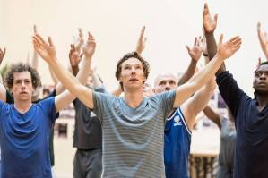 Benedict Cumberbatch in Hamlet rehearsals Photo credit: Johan Persson
