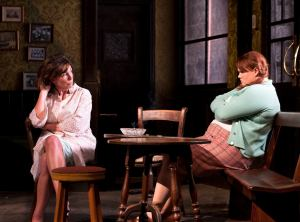 Sally Rogers and Bronwyn James in Hangmen Photo credit: Simon Annand