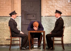 Ryan Pope, Graeme Hawley and Josef Davies in Hangmen Photo credit: Simon Annand