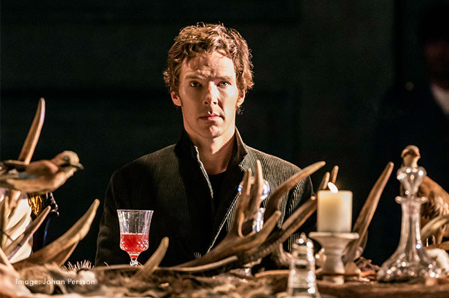 Benedict Cumberbatch in Hamlet Photograph by Johan Persson
