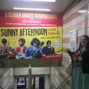 Finding this poster on the way home from the Oliviers ceremony - it was our destiny!