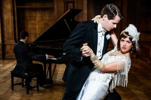 Max Roll and Celia Cruwys-Finnigan in The Great Gatsby Photo credit: Blackeyed Theatre (Alex Harvey-Brown/Mark Holliday)