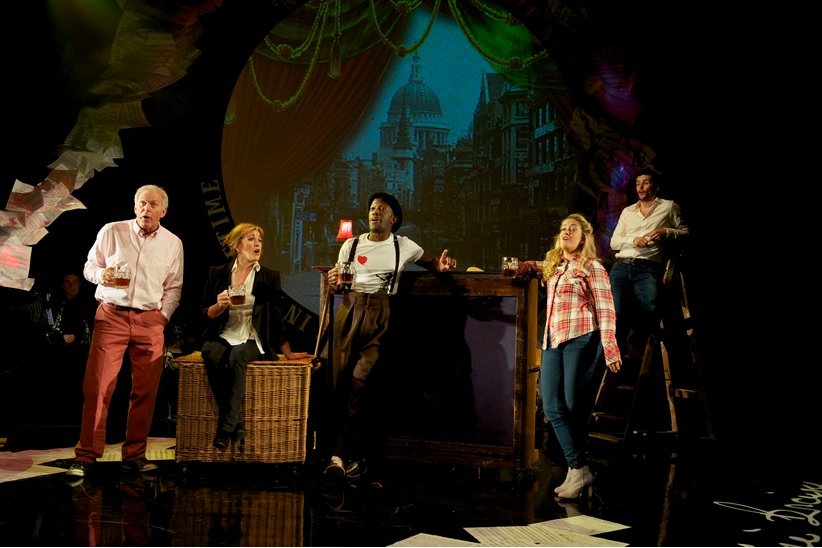 Dave Willetts, Siobhán McCarthy, Giles Terera, Julie Atherton and Niall Sheehy in Pure Imagination Photo credit: Annabel Vere