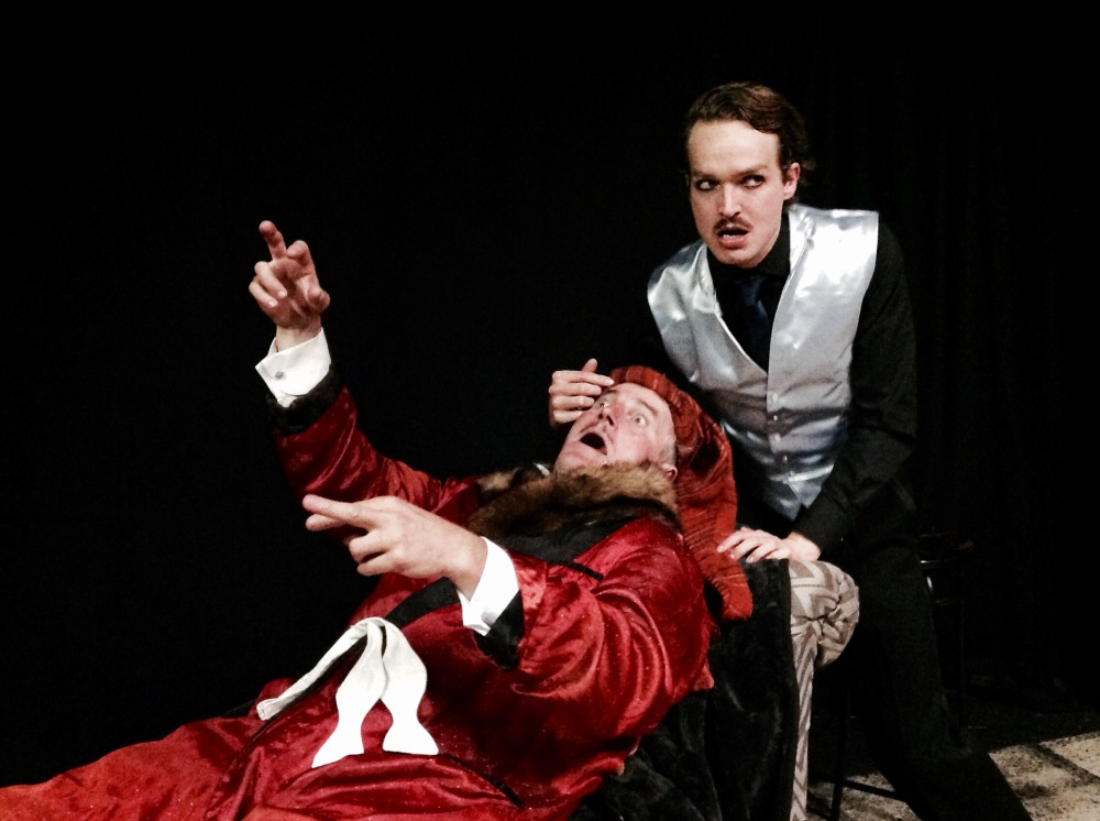 Steve Hope-Wynne and Pip Brignall in Volpone Photo credit: Scena Mundi