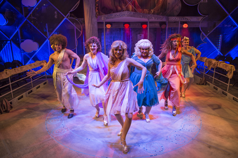 Carly Anderson and company in Xanadu Photo credit: Paul Coltas