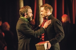 Hadley Fraser and Kenneth Branagh in The Winter's Tale Photo credit: Johan Persson