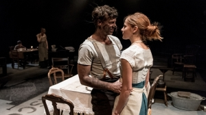 Joe Armstrong & Louise Brealey in Husbands & Sons Photo credit: Manuel Harlan