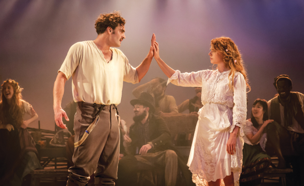 Tom Bateman and Jessie Buckley in The Winter's Tale Photo credit: Johan Persson