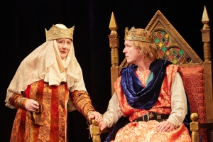 Maggie Steed and Jamie Ballard. King John at The Rose Theatre.  Photo by Mark Douet _80A7262