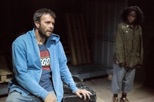 Cargo at the Arcola Theatre, John Schwab and Debbie Korley,  Photo by Mark Douet