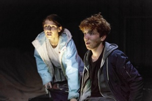 Cargo at the Arcola Theatre, Milly Thomas and Jack Gouldbourne,  Photo by Mark Douet