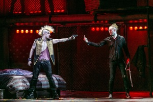 L - R Lucas Rush (St. Jimmy), Newton Faulkner (Johnny) - American Idiot UK Tour - Photos by Darren Bell (2242)