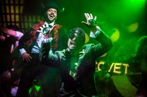 L-R Michael Greco (Miles Mason) & Kurt Kansley (Envy) - Exposure The Musical - St. James Theatre - Pamela Raith Photography - (018)