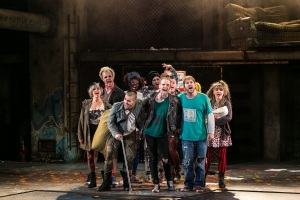 Newton Faulkner (Johnny) and cast - American Idiot UK Tour - Photo by Darren Bell (2433-2)