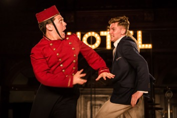 keith higinbotham and alex hooper in antic disposition-s the comedy of errors
