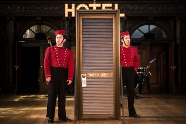 keith higinbotham and andrew venning in antic disposition-s the comedy of errors