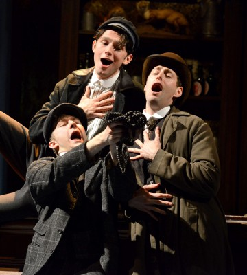 15. HALF A SIXPENCE Sam O'Rourke 'Buggins', Alex Hope 'Sid' & Callum Train 'Pierce'. Photo by Michael Le Poer Trench