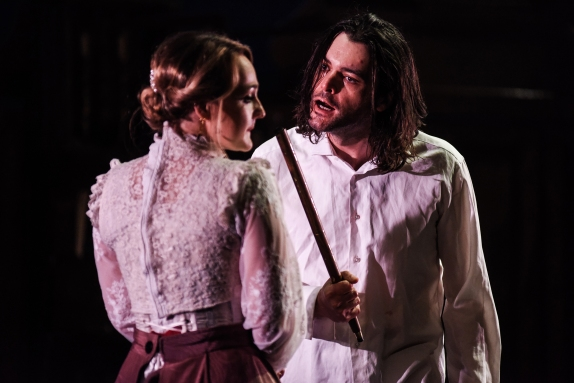 Paige Round and Jack Bannell in The Strange Case of Dr Jekyll & Mr Hyde, credit Alex Harvey-Brown. (2)