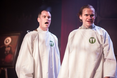 Adam Sopp and Edmund Digby Jones in The Dog Beneath the Skin, credit of Sam Taylor (S R Taylor Photography).