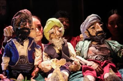 Arabian Nights, Hoxton Hall (Sharon Singh, Ikky Elyas and Maya Britto) - courtesy of Ali Wright