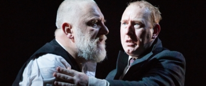 Simon-Russell-Beale-left-portrays-King-Lear-with-Adrian-Scarborough-as-his-Fool-at-the-National-Theatre.-Mark-Douet