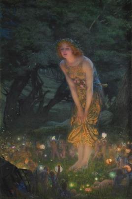 Edward_Robert_Hughes_-_Midsummer_Eve_(1908c)