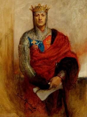 Hacker, Arthur, 1858-1919; Lewis Waller (1860-1915), as Henry V