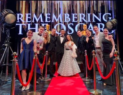 Aljaž Škorjanec, Janette Manrara and cast, Remembering the Oscars (credit Ryan X Howard) 1